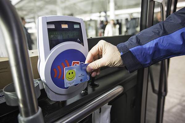 rfid keychain on bus