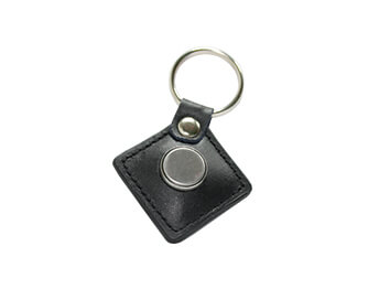 leather ibutton keychain